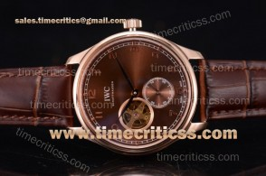 IWC TriIWC89212 Portugueser Tourbillon Brown Dial Rose Gold Watch