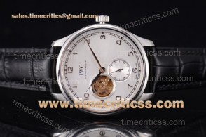 IWC TriIWC89213 Portugueser Tourbillon White Dial Steel Watch