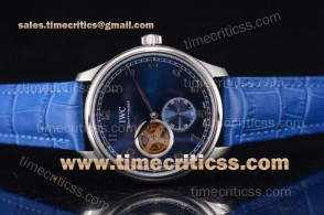 IWC TriIWC89214 Portugueser Tourbillon Blue Dial Steel Watch
