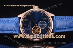 IWC TriIWC89215 Portugueser Tourbillon Blue Dial Rose Gold Watch