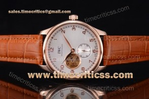 IWC TriIWC89217 Portugueser Tourbillon White Dial Rose Gold Watch