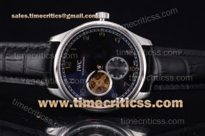 IWC TriIWC89218 Portugueser Tourbillon Black Dial Steel Watch