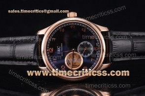 IWC TriIWC89219 Portugueser Tourbillon Black Dial Rose Gold Watch