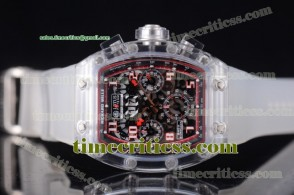 Richard Mille TriRM99132 RM 011 Felipe Massa Flyback Chrono Skeleton Dial Sapphire Crystal Watch