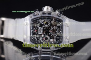Richard Mille TriRM99134 RM 011 Felipe Massa Flyback Chrono Skeleton Dial Sapphire Crystal Watch