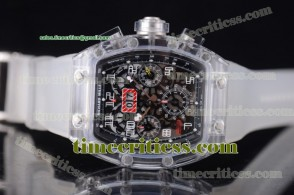Richard Mille TriRM99136 RM 011 Felipe Massa Flyback Chrono Skeleton Dial Sapphire Crystal Watch