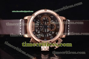 U-Boat TriUB99036 Chimera Skeleton Chrono Skeleton Dial Rose Gold Watch