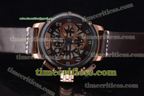 U-Boat TriUB99037 Chimera Skeleton Chrono Skeleton Dial Rose Gold Watch