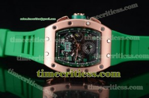 Richard Mille TriRM99141 RM011-FM Skeleton Dial Rose Gold Watch