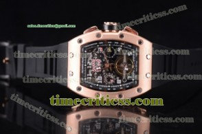 Richard Mille TriRM99145 RM011-FM Skeleton Dial Rose Gold Watch