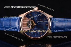 IWC TriIWC89169 Portuguese Tourbillon Blue Dial Rose Gold Watch