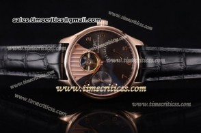 IWC TriIWC89170 Portuguese Tourbillon Black Dial Rose Gold Watch