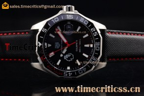 Tag Heuer TriTAG89174 Aquaracer Calibre 5 Match Timer Premier League Special Edition Black Dial Steel Watch