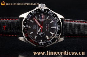 Tag Heuer TriTAG89175 Aquaracer Calibre 5 Match Timer Premier League Special Edition Black Dial Steel Watch