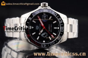 Tag Heuer TriTAG89179 Aquaracer Calibre 5 Match Timer Premier League Special Edition Chrono Black Dial Steel Watch