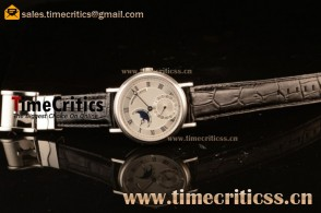 Breguet TriPN745 Classique Moonphase White Dial Steel Watch