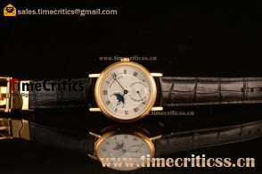 Breguet TriPN746 Classique Moonphase White Dial Yellow Gold Watch