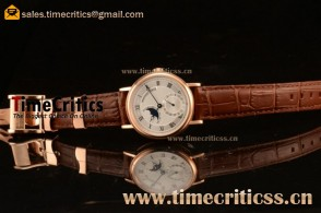 Breguet TriPN747 Classique Moonphase White Dial Rose Gold Watch
