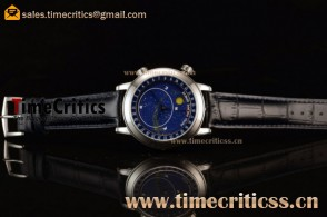Patek Philippe Grand Complication Sky Moon Celestial 6102P Blue Dial Steel Watch