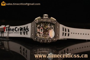 Richard Mille RM11-03 TriRM145526 Clone Richard Mille Movement Carbon Fiber Case Grey Rubber Strap (KV)