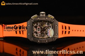 Richard Mille RM11-03 TriRM145541 Clone Richard Mille Movement Carbon Fiber Case Orange Rubber Strap (KV)