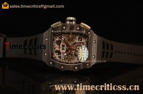 Richard Mille RM11-03 TriRM145568 Clone Richard Mille Movement Carbon Fiber Case Black Rubber Strap (KV)