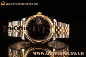 Rolex Datejust 36mm Swiss ETA 2836 Automatic Two Tone with Black Dial and Roman Markers