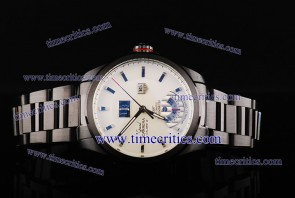 Tag Heuer TcrTHGC214 Grand Carrera Grand Date GMT ETA Coating White Dial PVD Strap PVD Watch
