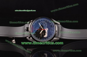 Tag Heuer TcrTHM321 Mikrogirder 10000 Black Dial Red Minutes Hands Black Rubber Strap PVD Watch