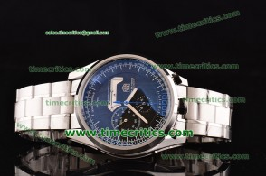 Tag Heuer TcrTHM323 Mikrogirder 10000 Black Dial Blue Minutes Hands Steel Watch
