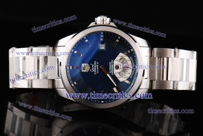 Tag Heuer TcrTHGC201 Grand Carrera Calibre 8 ETA Coating Blue Dial Stick Markers Steel Watch