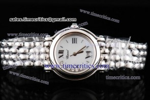 Chopard Trichp247 Happy Sport Classic Round 7 Floating Diamonds Steel Watch
