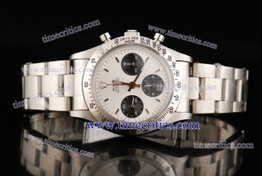Rolex TriROL911 Daytona White Dial Steel Watch