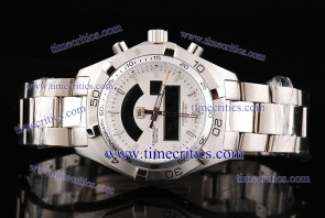 Tag Heuer TcrTHA012 Aquaracer 2000 Chronotimer White Dial Steel Watch
