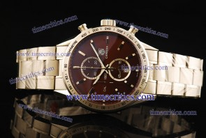 Tag Heuer TcrTCC248 Carrera 1887 Chrono Brown Dial Steel Watch 7750 Coating