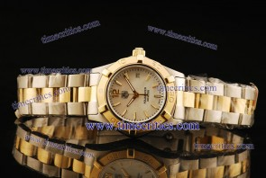 Tag Heuer TcrTHA421 Aquaracer Ladies Two Tone Pearl White Stick Markers Watch