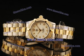 Tag Heuer TcrTHA426 Aquaracer Ladies Two Tone White Diamond Markers Watch