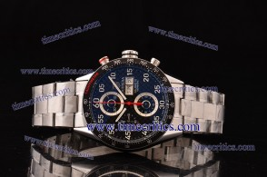 Tag Heuer TcrTCC292 Carrera Black Dial Red Minutes Hands Steel Watch
