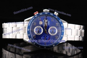 Tag Heuer TcrTCC205 Carrera Day Date Calibre 16 Blue Dial Steel Watch 7750 Coating